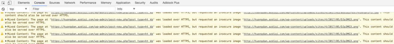 Các liên kết trên website chưa chuyển sang HTTPS nên báo lỗi.