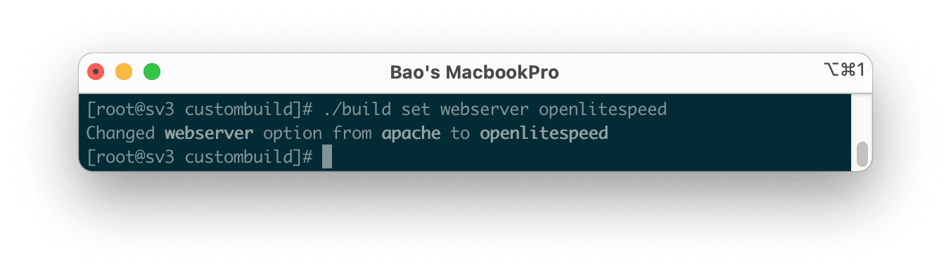 Thay đổi webservice mặc định Apache sang OpenLiteSpeed DirectAdmin.