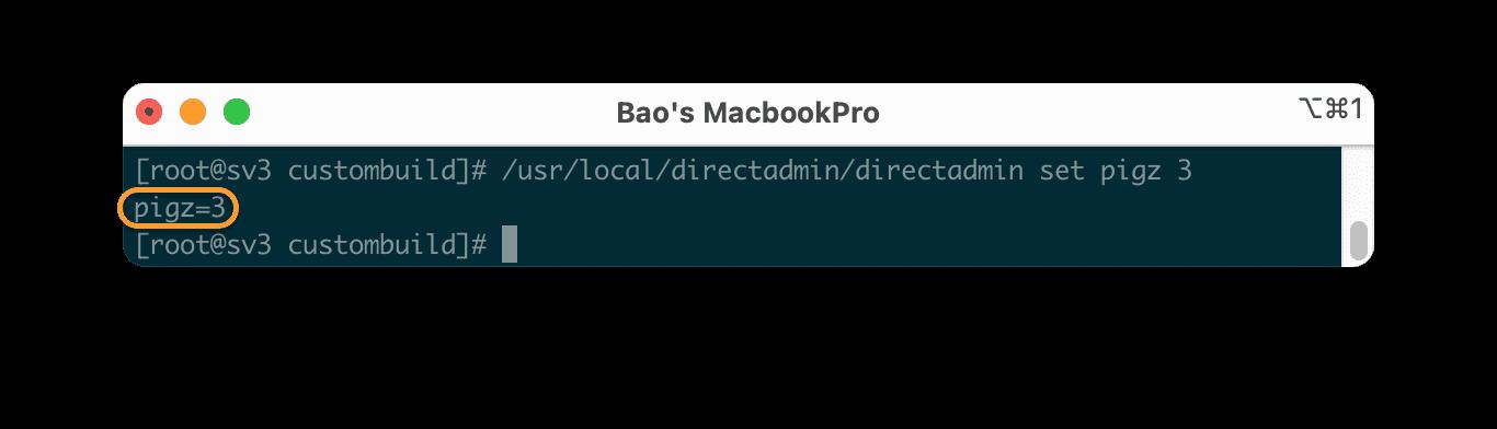 Tăng tốc quá trình backup của DirectAdmin với PIGZ