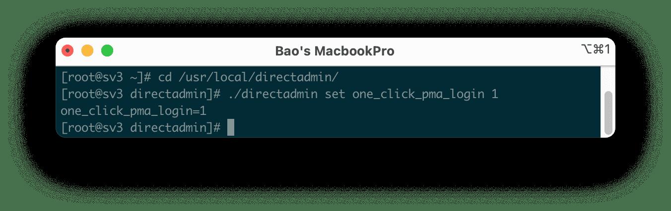 One-Click login to phpMyAdmin Directadmin