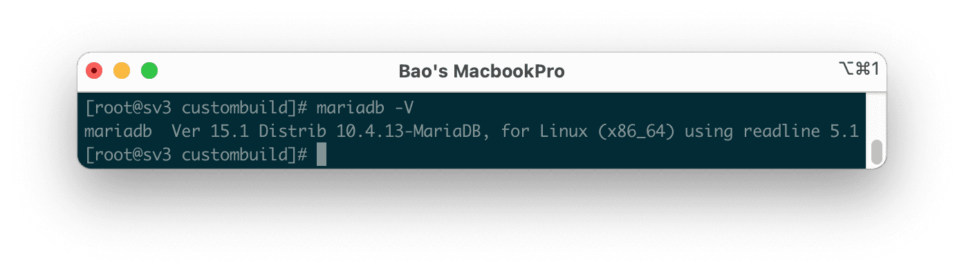 hạ cấp MariaDB trên DirectAdmin