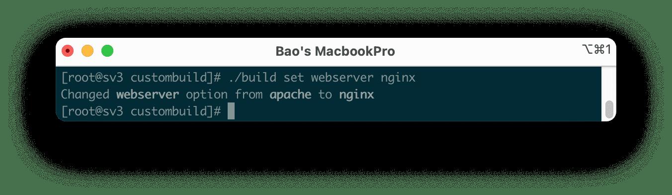 cài đặt webserver Nginx DirectAdmin