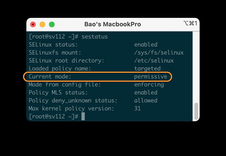 disable SELinux CentOS 7