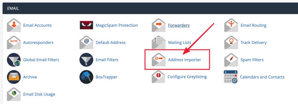 Hướng dẫn sử dụng Address Importer cPanel.
