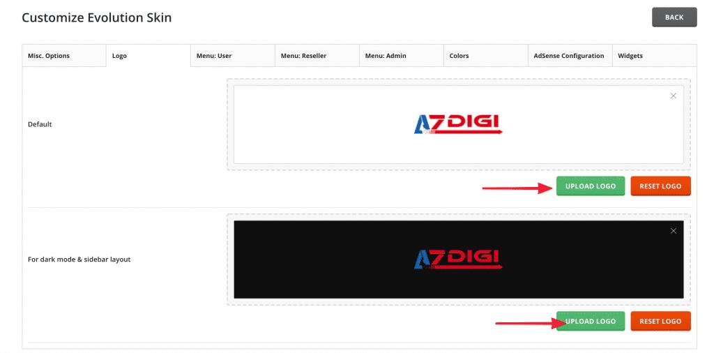 thay đổi Logo DirectAdmin