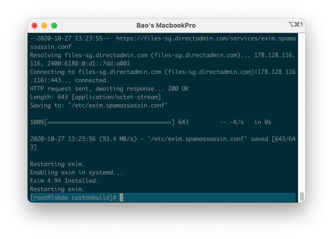 how to install cài đặt Easy Spam Fighter trên DirectAdmin