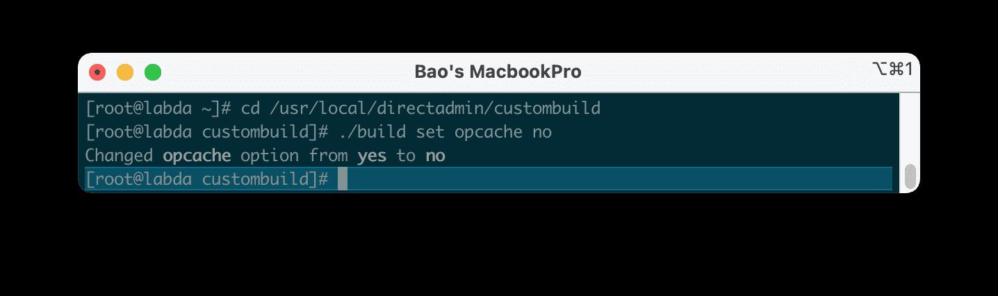 vô hiệu hóa OPCache trên DirectAdmin - How to disable OPCache DirectAdmin