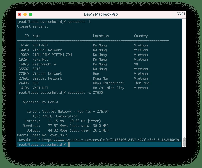 cài đặt Speedtest CLI trên Linux - how to install