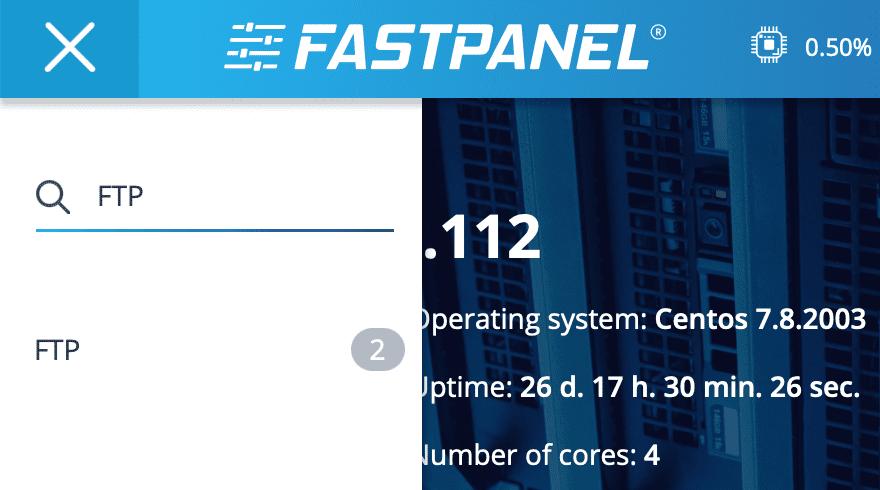 tạo tài khoản FTP trên FASTPANEL