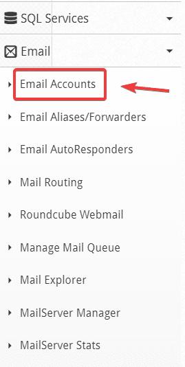 tạo Email trên Centos Web Panel