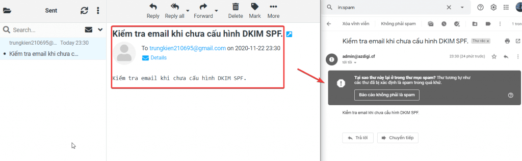 cấu hình DKIM SPF DMARC