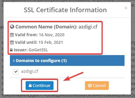 Cài đặt SSL có phí trên Centos Web Panel