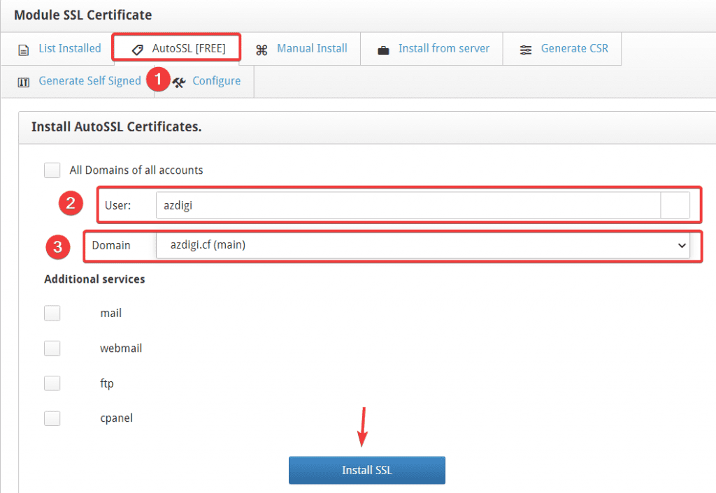 cài đặt SSL Let's Encrypt trên Centos Web Panel