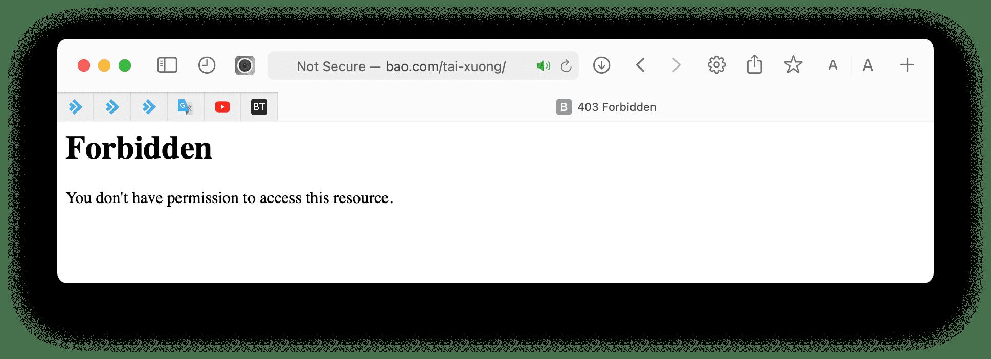 Trước khi bật hiển thị file trong thư mục website.