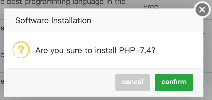 how to install multiple php aapanel
