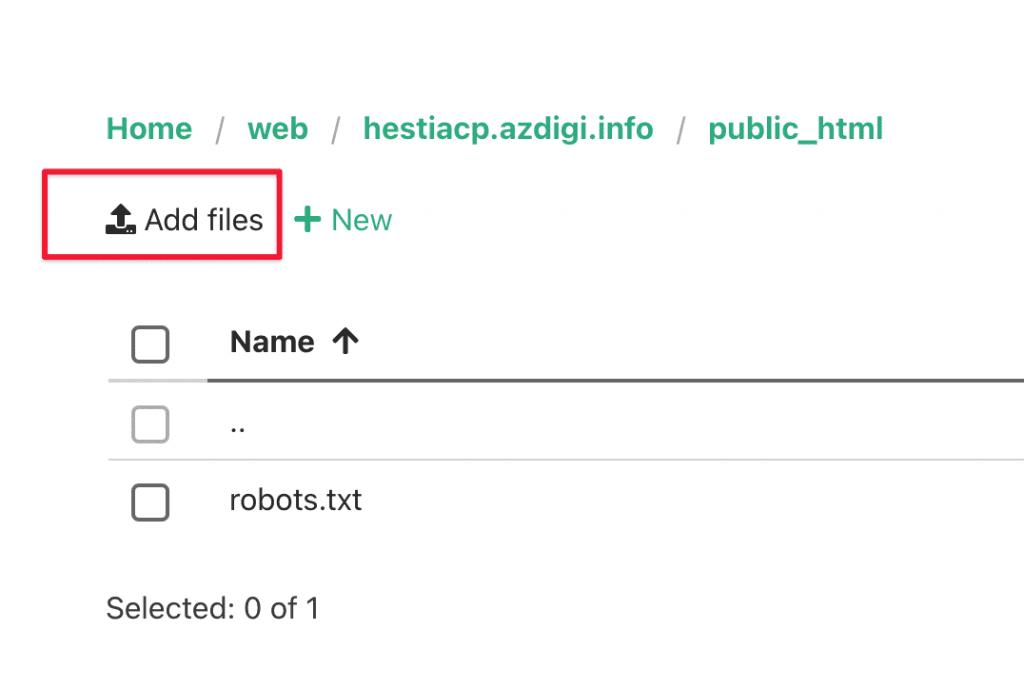 chuyển dữ liệu website lên HestiaCP
