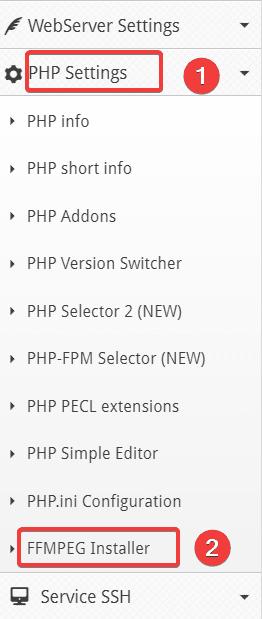 cài đặt FFMPEG trên Centos Web Panel