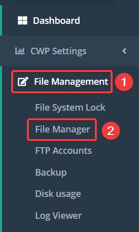 Hướng dẫn sử dụng File Manager trên Centos Web Panel