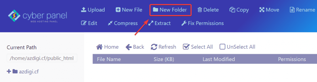 sử dụng File Manager