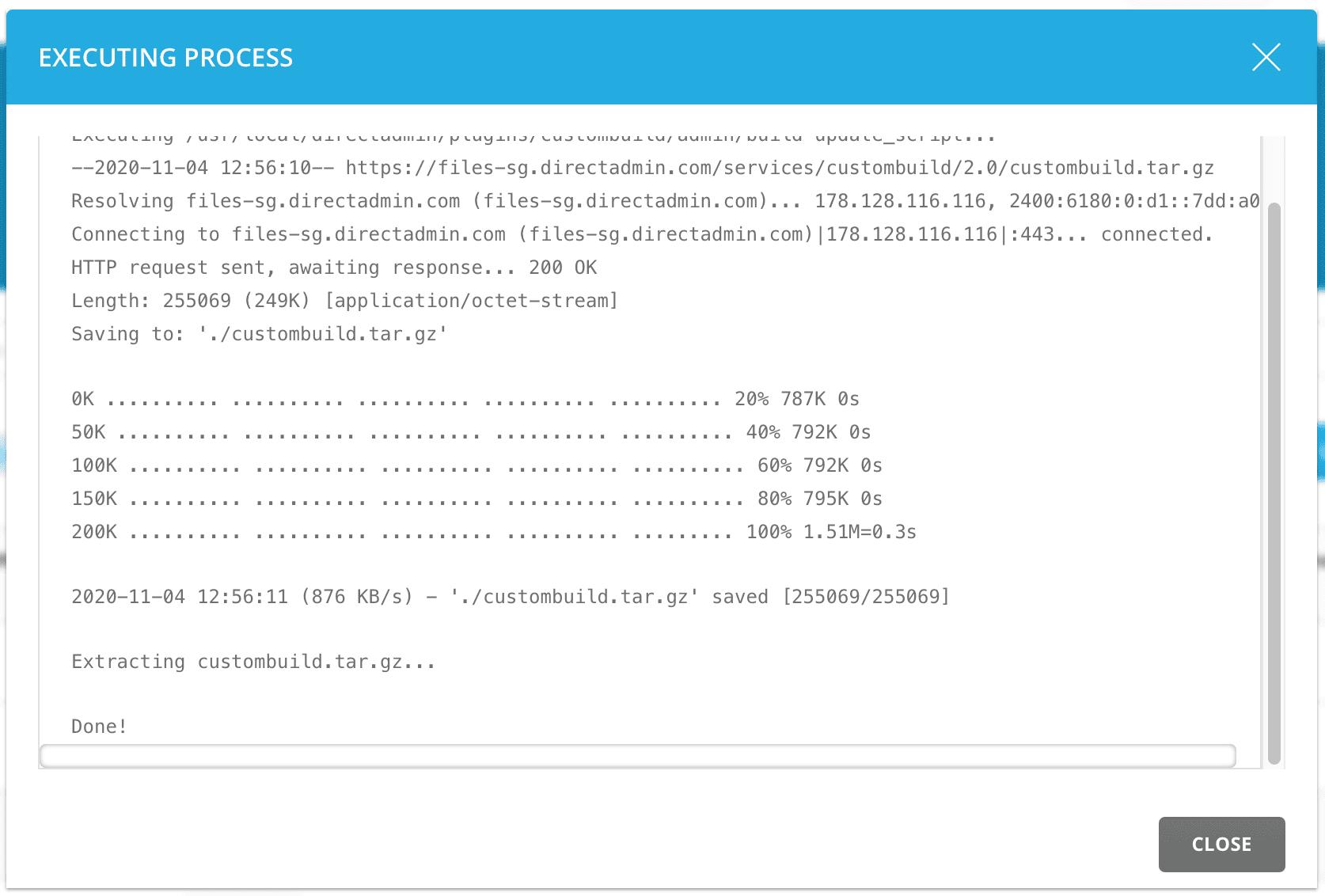 update nâng cấp phiên bản PHP trên DirectAdmin