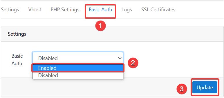 Thiết lập Basic Authentication trên CloudPanel