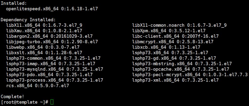 Cài đặt OpenLiteSpeed MariaDB và PHP trên Centos 7