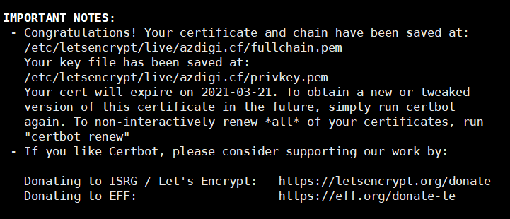 Cài đặt Let's Encrypt trên OpenLiteSpeed