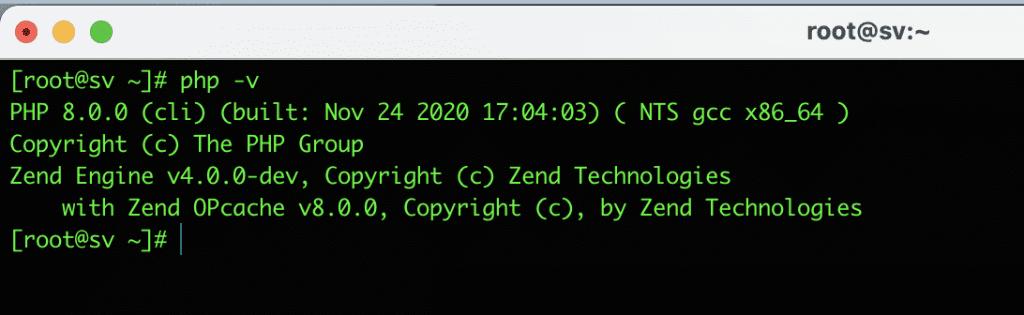 cài đặt PHP 8.0 trên CentOS 8