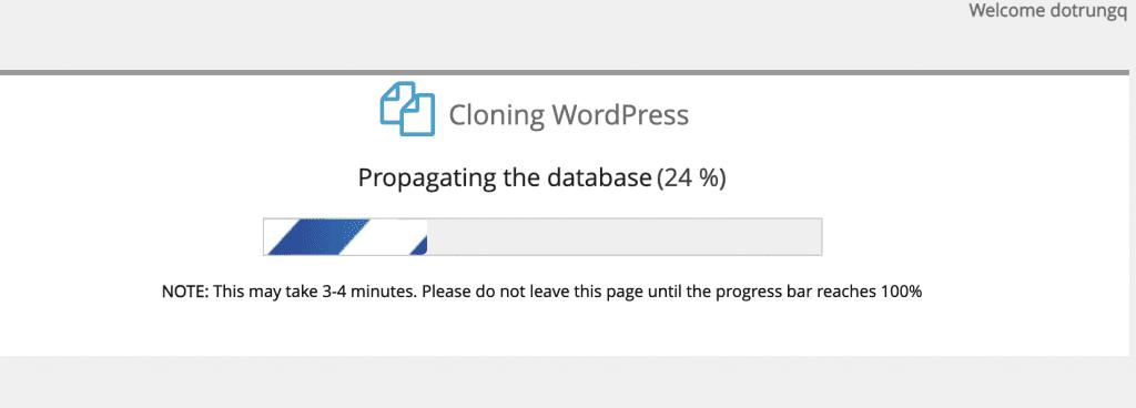 Clone website bằng WordPress Manager