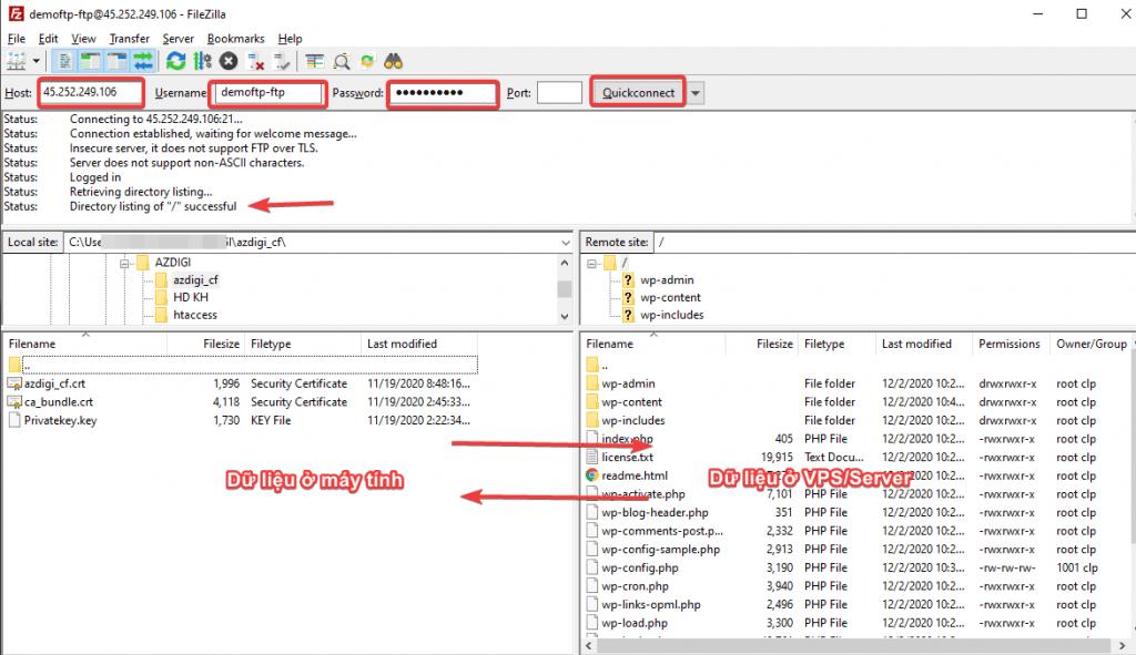 tạo và sử dụng FTP trên CloudPanel