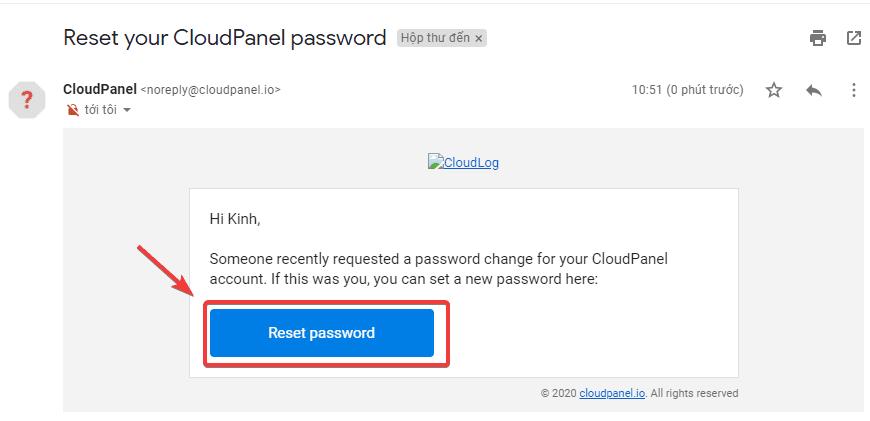 reset pass User trên CloudPanel