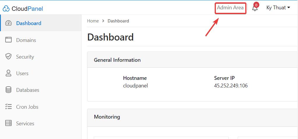 Hướng dẫn tạo User trên CloudPanel