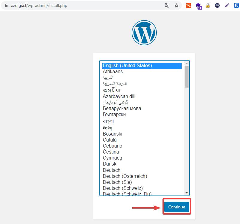 Cài đặt WordPress trên LarVPS