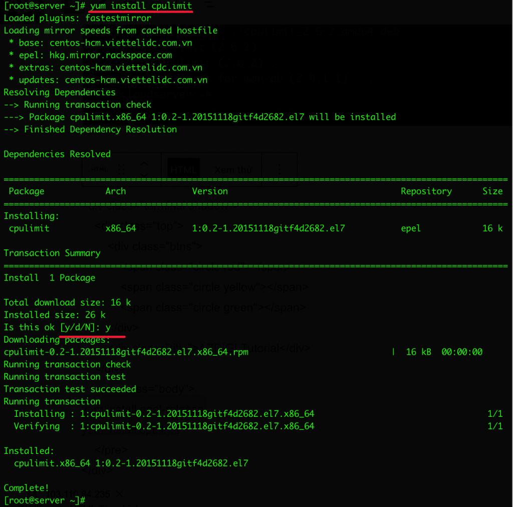 CPULimit - Kiểm soát giới hạn tiến trình sử dụng CPU