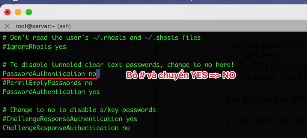 cấu hình SSH Proxy