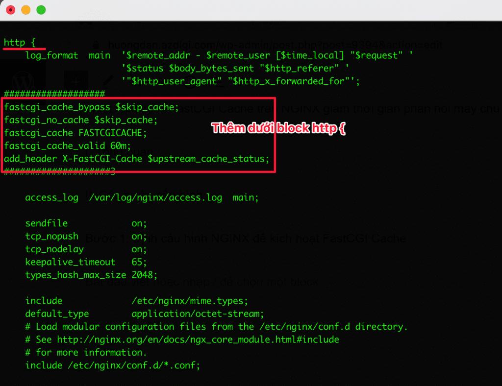 Thiết lập Nginx FastCGI Cache trên NGINX