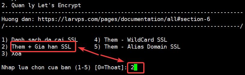 Cài đặt SSL Let's Encrypt trên LarVPS