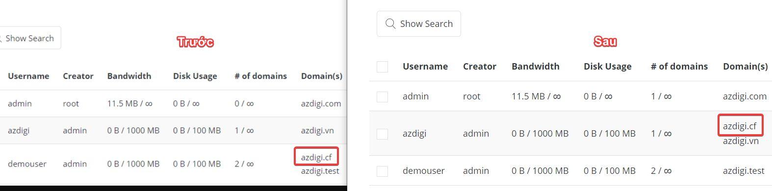 Di chuyển Website bằng command trên DirectAdmin