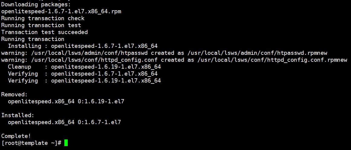 Upgrading/Downgrading phiên bản OpenLiteSpeed trên CentOS