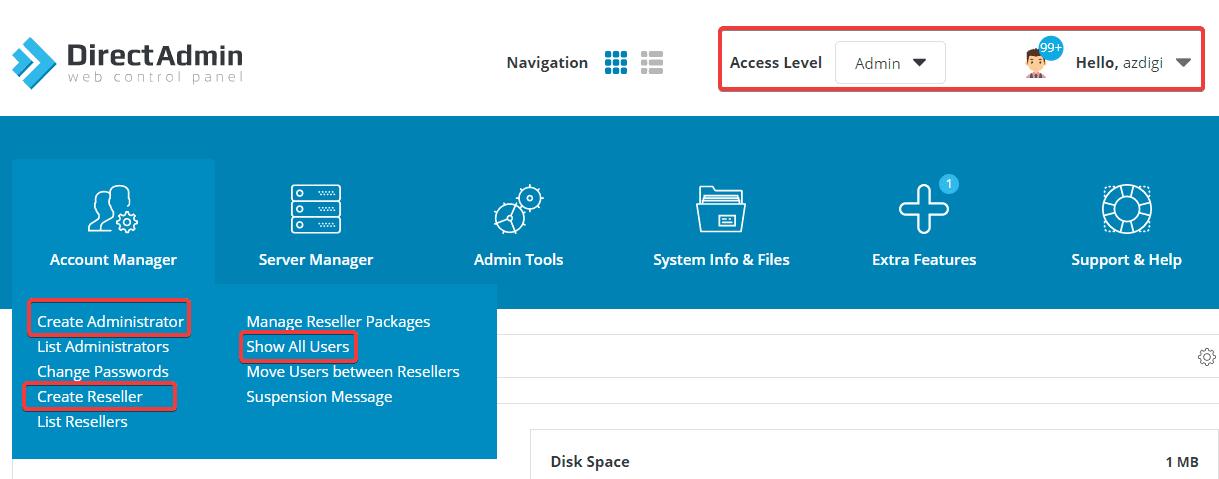 Hướng dẫn nâng cấp Reseller lên Admin bằng command trên DirectAdmin