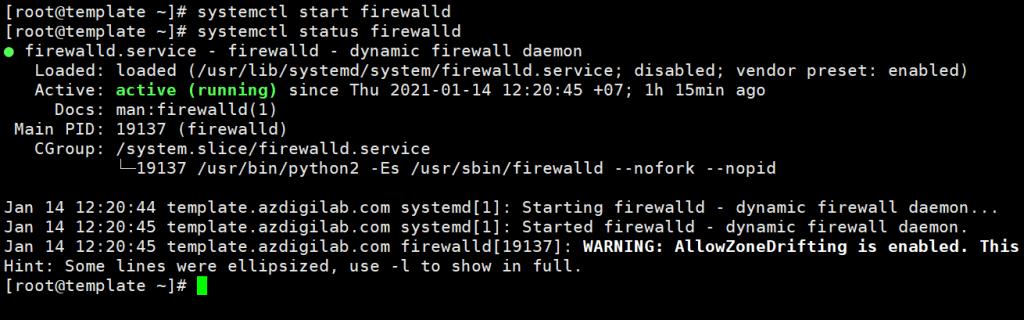 Xử lý lỗi Failed to start firewalld.service