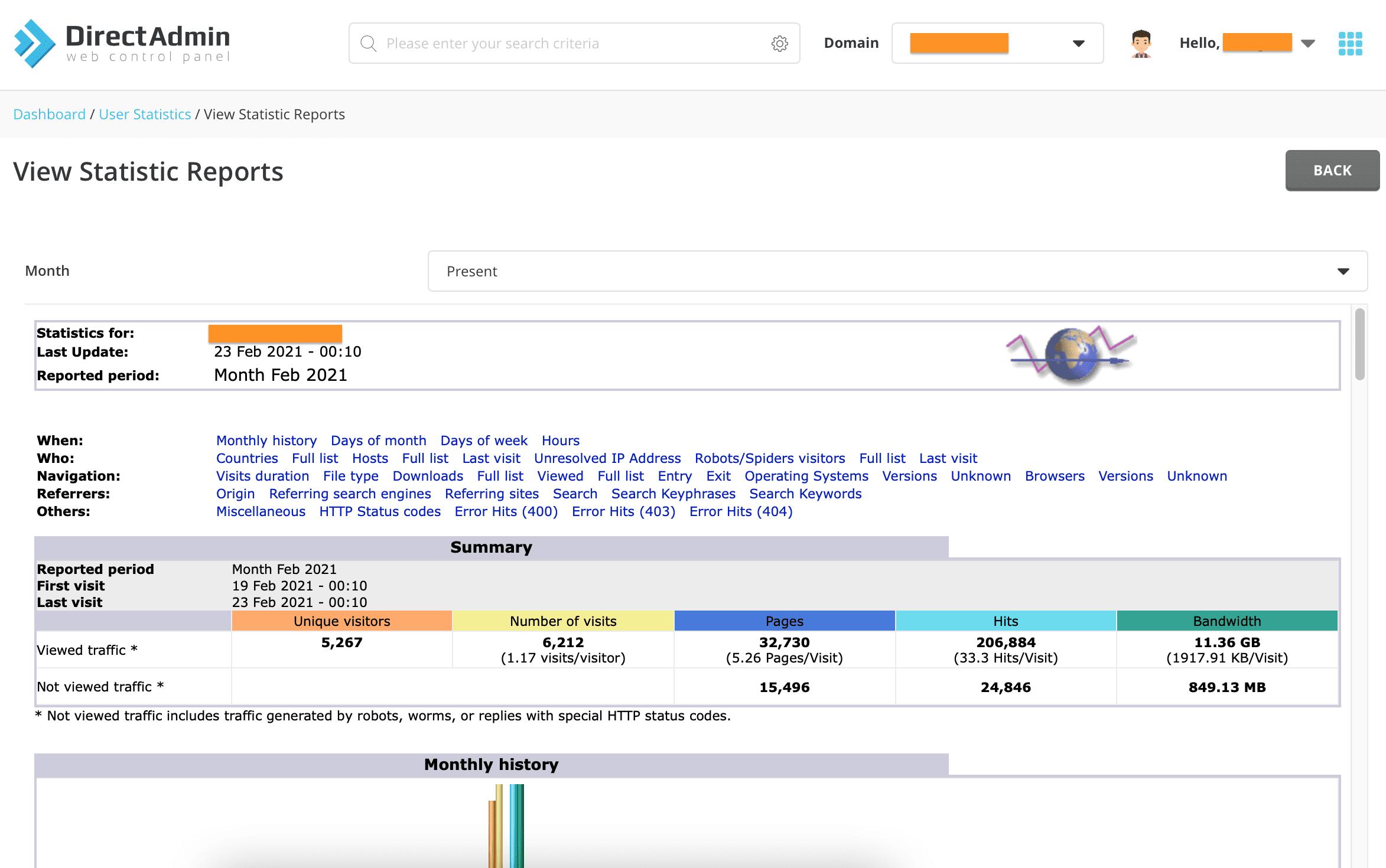 Enable Kích hoạt AWStats trên DirectAdmin