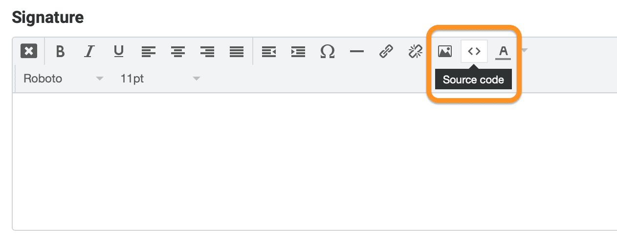 create signature Tạo chữ ký HTML trong Roundcube