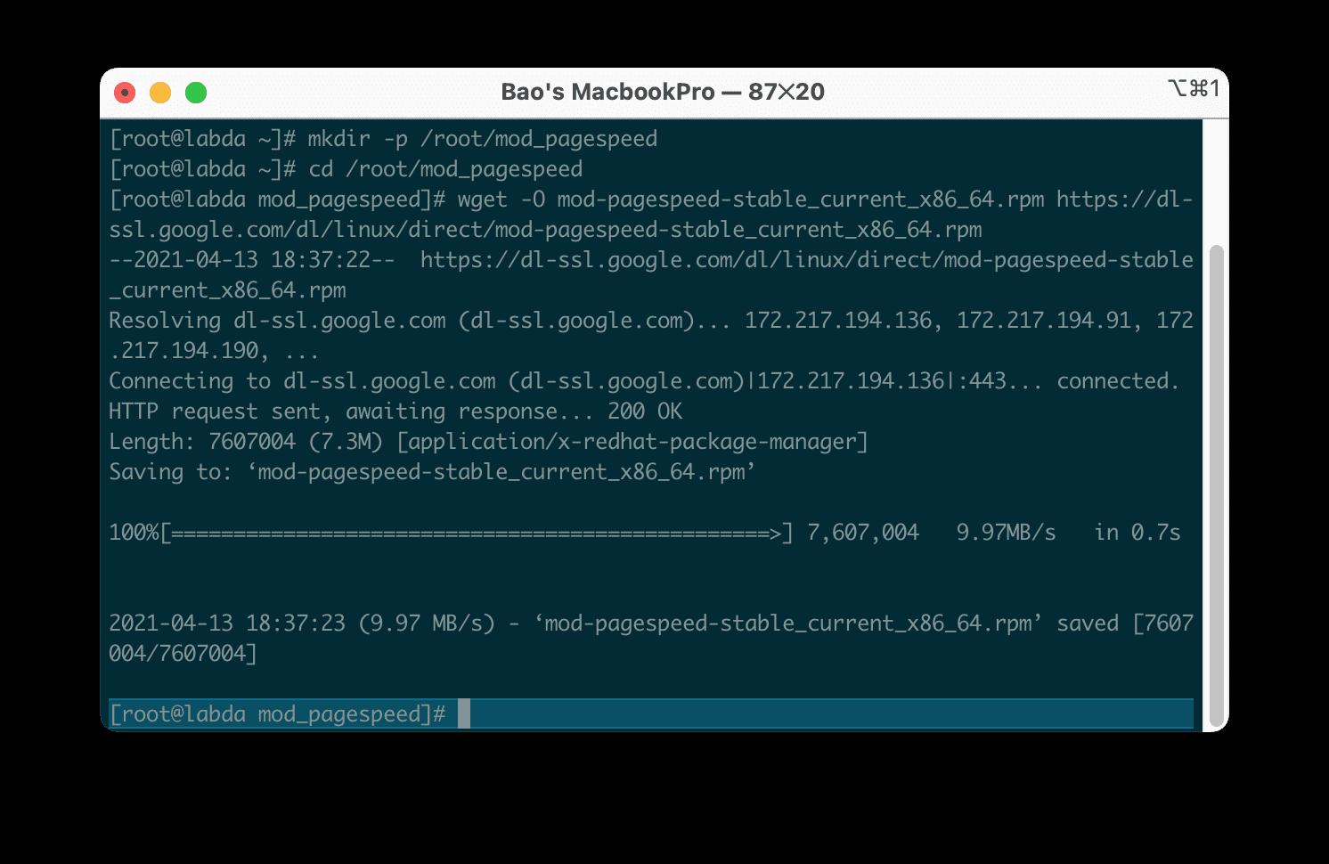 Cài đặt mod_pagespeed vào Apache directadmin