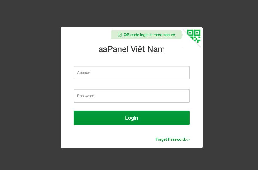 Thay đổi tên tiêu đề và favicon của AAPANEL