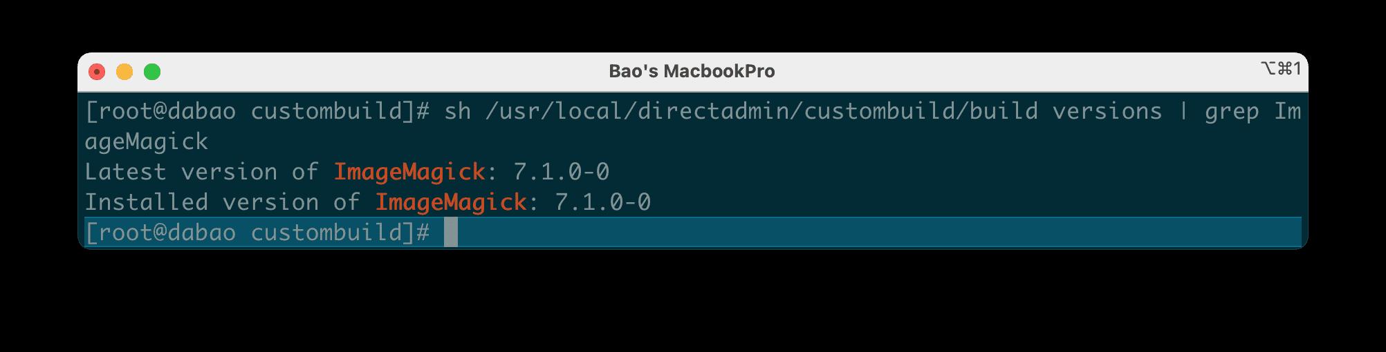 nâng cấp phiên bản ImageMagick trên DirectAdmin