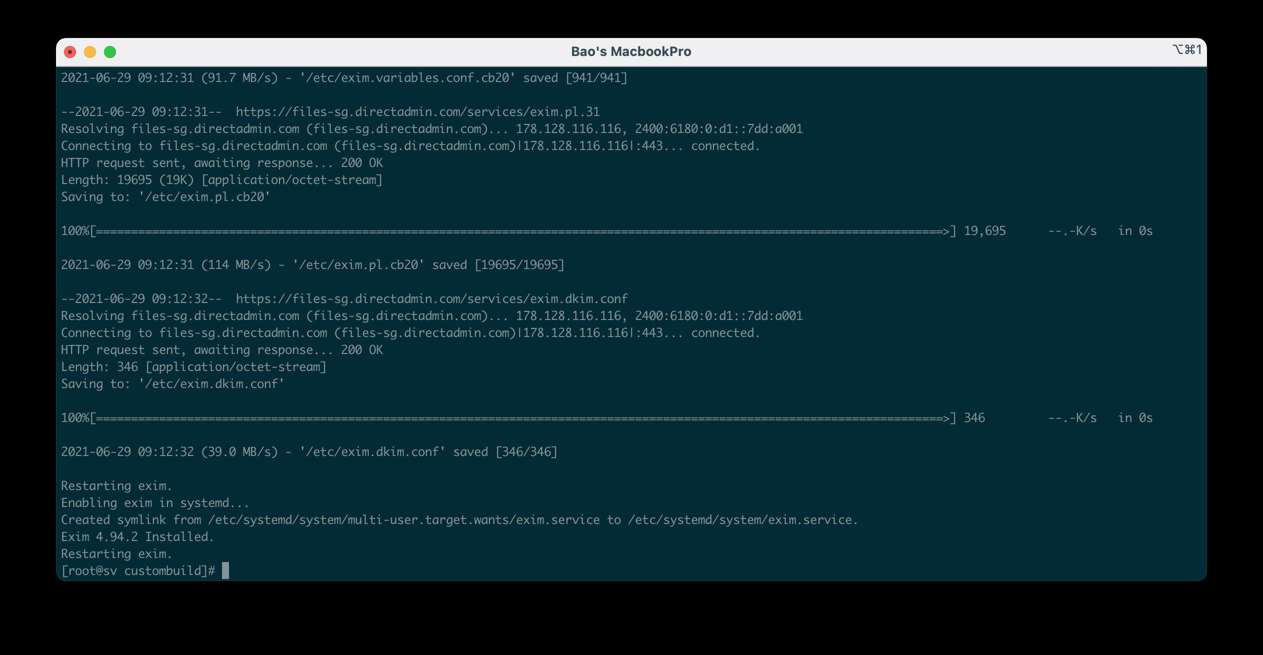Cài đặt Exim trên DirectAdmin - Install Exim on DirectAdmin