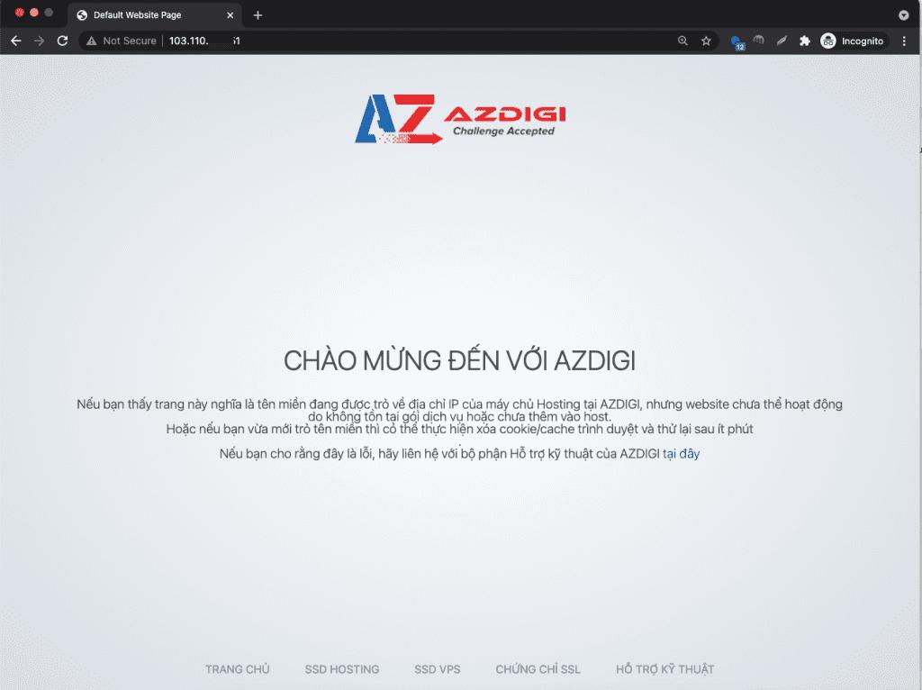 Thay đổi trang default khi truy cập vào IP trên aaPanel