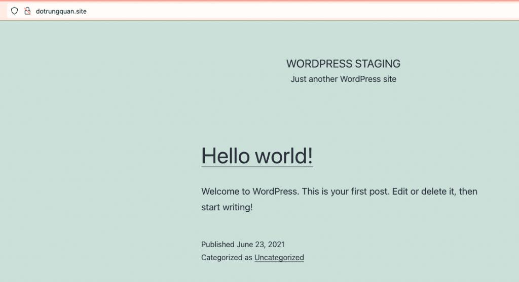 sử dụng WordPress Staging trên CyberPanel