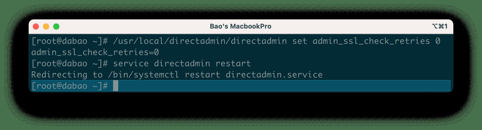Tắt tính năng tự động cài SSL trên DirectAdmin - Disable Automatic SSL Certificates DirectAdmin